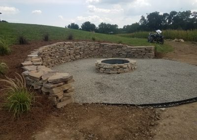 Wall and Firepit - Hardscaping | Tom Hershey Landscaping