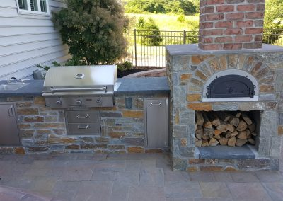 Outdoor Kitchen | Fireplace Tom Hershey Landscaping