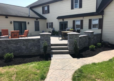 Wall, Patio and Walkway | Tom Hershey Landscaping